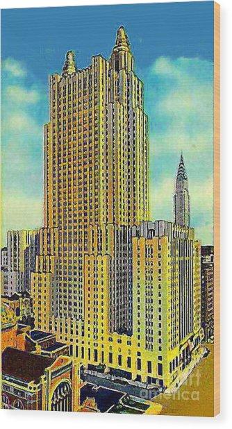 The Waldorf Astoria Hotel Wood Print by Dwight Goss