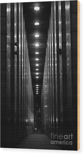 The Walkway Wood Print