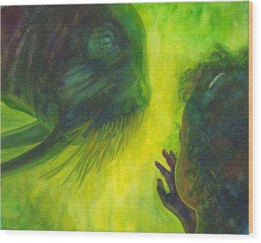 The Walrus Wood Print by Maureen Dean