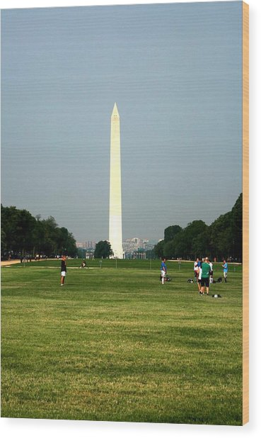 The Washington Monument Wood Print by Jeanette Rode Dybdahl