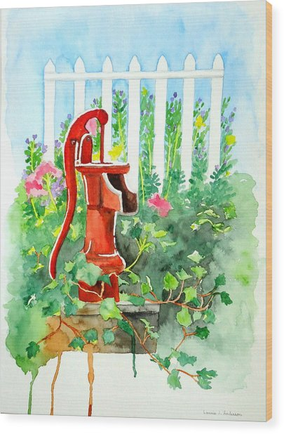 The Water Pump Wood Print