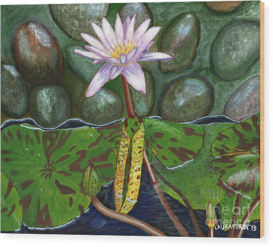 The Waterlily Wood Print