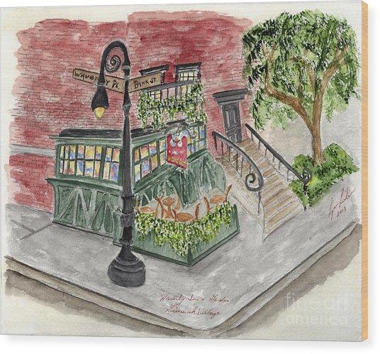 The Waverly Inn And Garden Wood Print