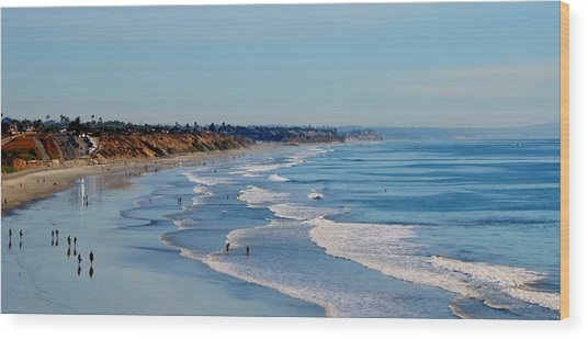 The Waves In Carlsbad Beach California  Wood Print