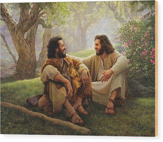 Wood Print featuring the painting The Way Of Joy by Greg Olsen
