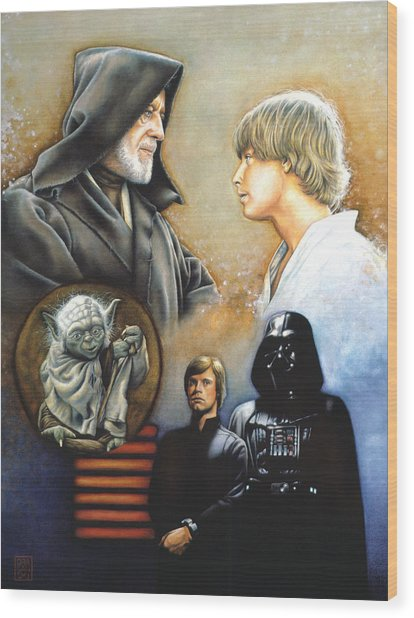 The Way Of The Force Wood Print
