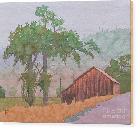 The Way To Napa Wood Print by Robert Hooper