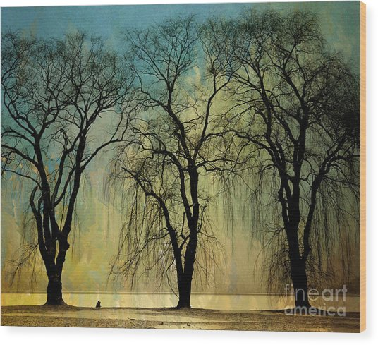 The Weeping Trees Wood Print