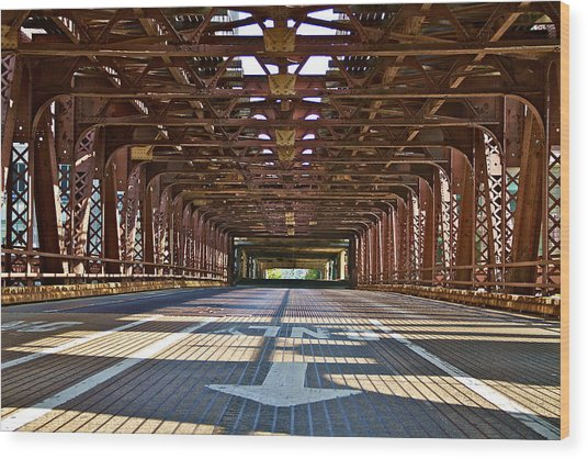 The Wells Street Bridge Wood Print