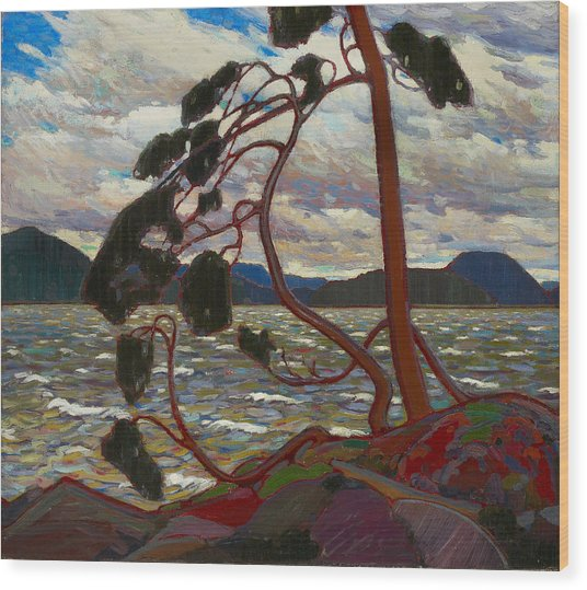 Wood Print featuring the painting The West Wind by Tom Thomson