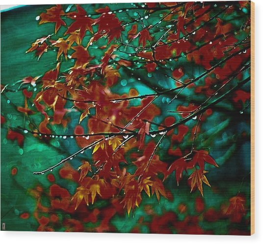 The Whispering Leaves Of Autumn Wood Print