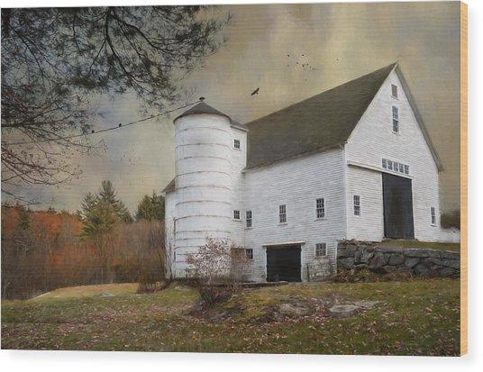 The White Barn Wood Print