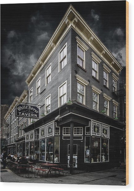 The White Horse Tavern Wood Print
