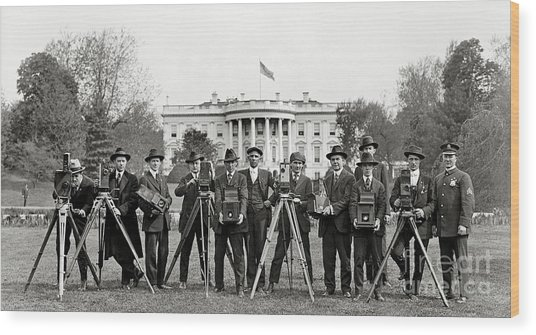 The White House Photographers Wood Print