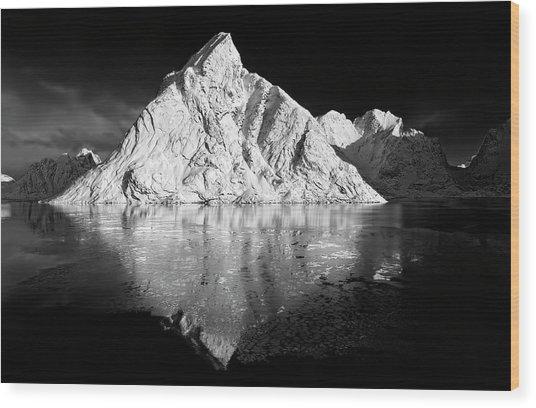 The White Mountain Wood Print