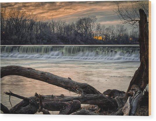 The White River Wood Print