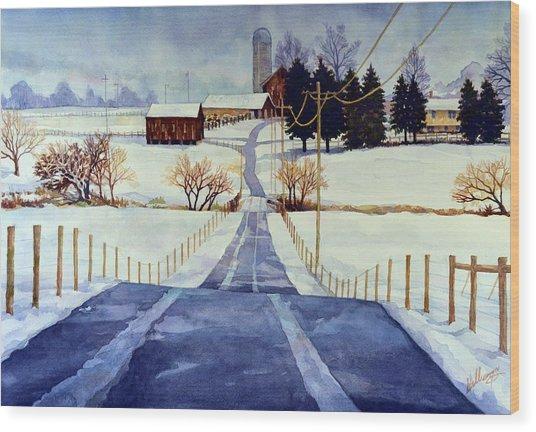 The White Season Wood Print