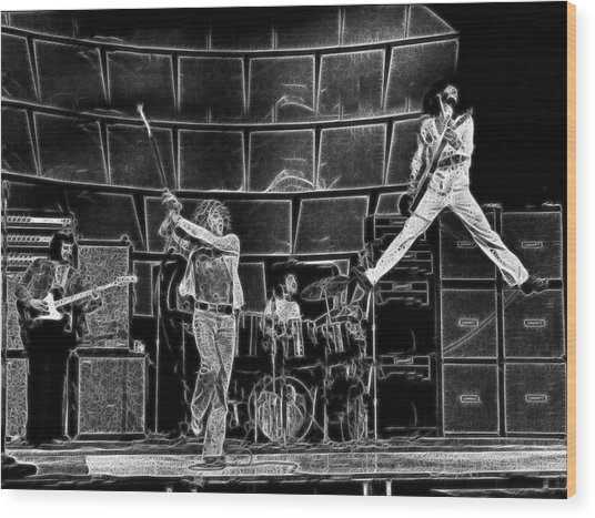 The Who - A Pencil Study - Designed By Doc Braham Wood Print