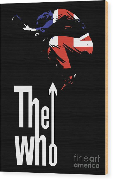The Who No.01 Wood Print