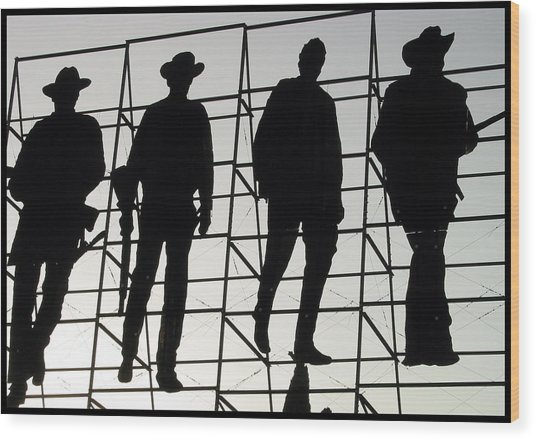 The Wild Bunch Wood Print