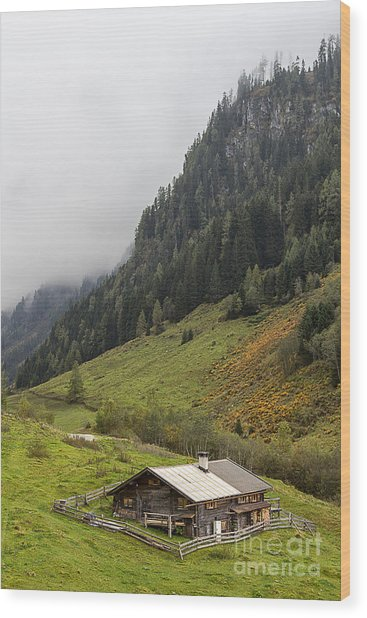 The Wimmertal In Tirol Wood Print