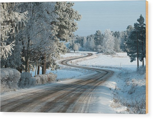 The Winding Road Wood Print