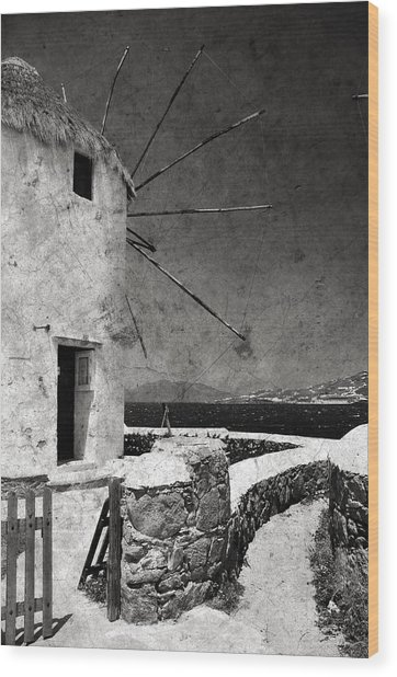 The Windmills Of Mykonos 3 Wood Print