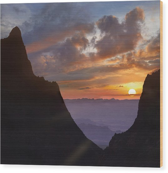 Wood Print featuring the photograph The Window At Sunset Big Bend Np Texas by Tim Fitzharris