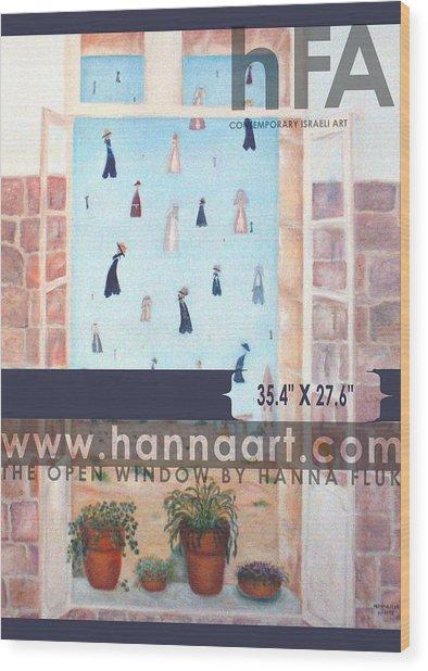 The Window Wood Print by Hanna Fluk