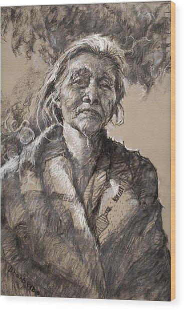 The Wisdom Of Age Wood Print