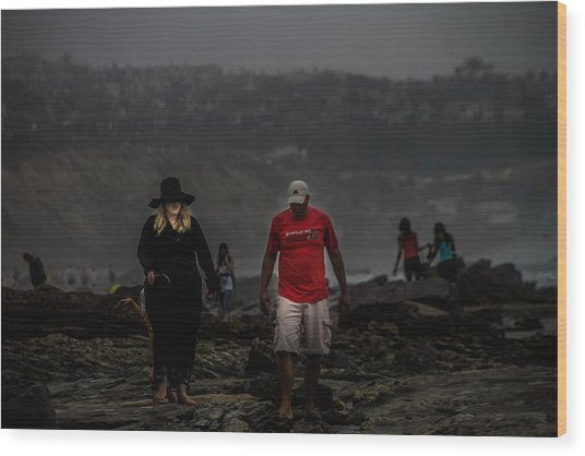 The Witch On The Beach Wood Print