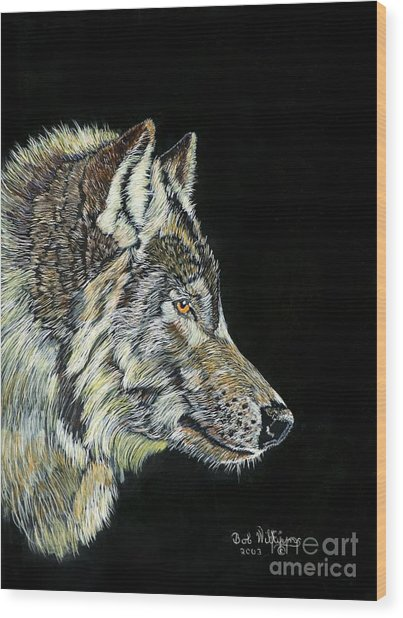 The Wolf Wood Print