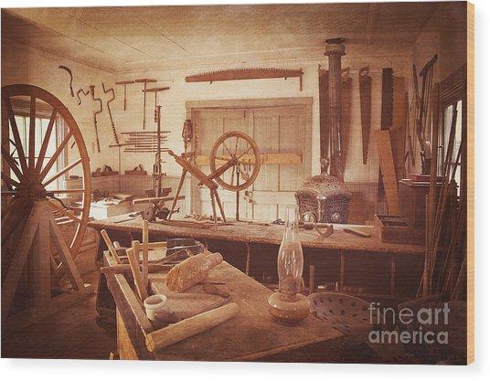 The Wood Workers Shop Vintage Wood Print