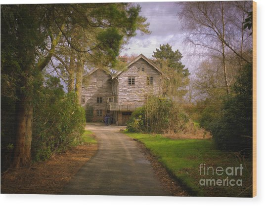 The Wooden House Wood Print