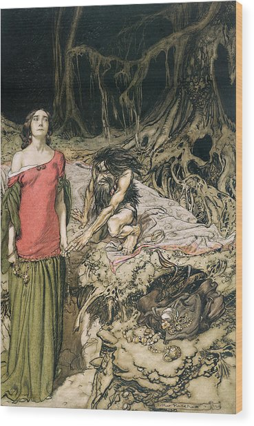 The Wooing Of Grimhilde The Mother Of Hagen From 'siegfried And The Twilight Of The Gods Wood Print