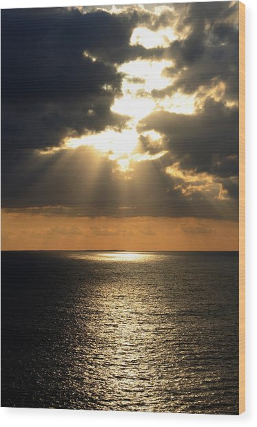 Key West Sunset The Word Wood Print