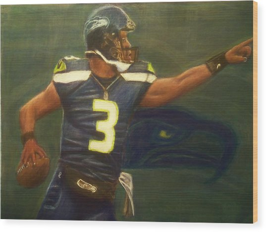 The Word Is Out Feat Russell Wilson Wood Print by D Rogale
