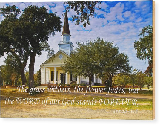 The Word Of God Stands Wood Print
