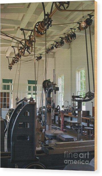 The Work Shop Wood Print