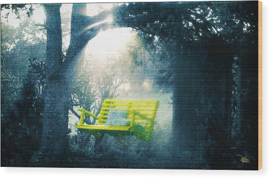 The Yellow Swing Wood Print by Douglas MooreZart