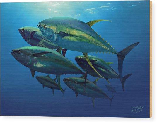 Yellowfin Wood Print