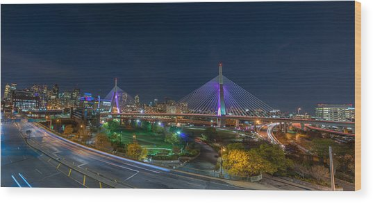 The Zakim Bridge Wood Print