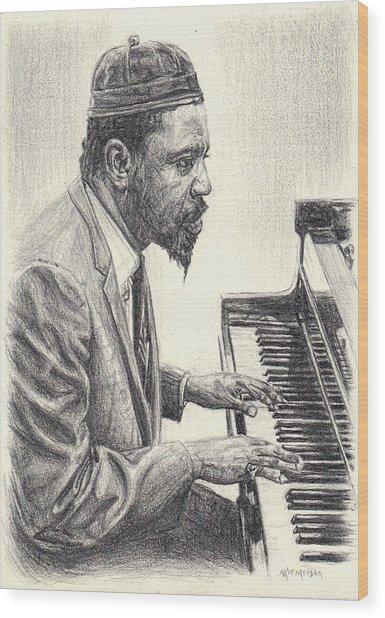 Thelonious Monk II Wood Print