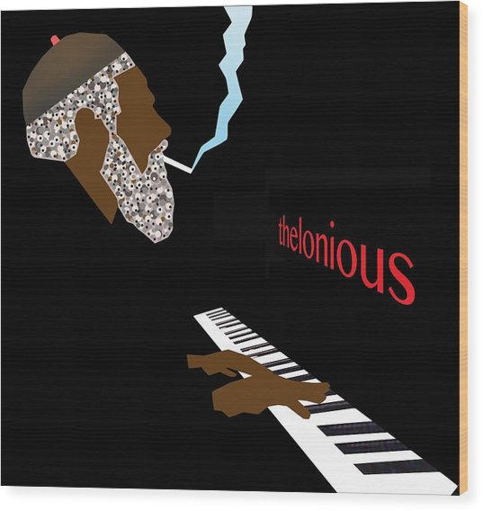 Thelonious Monk Wood Print by Victor Bailey