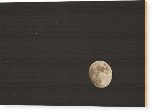 Themoon Wood Print by Amr Miqdadi