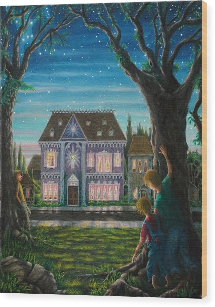 There Is A House In New Orleans Wood Print