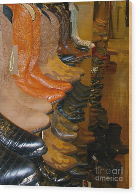 These Boots Wood Print