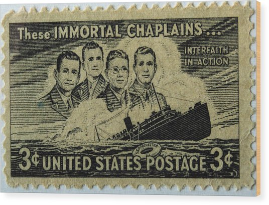 These Immortal Chaplains Wood Print