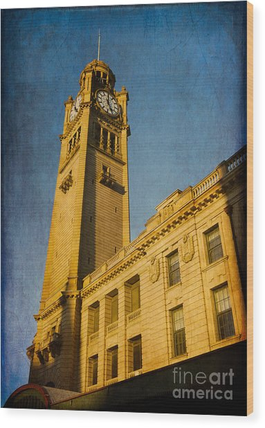 They Don't Build Them How They Used To - Clock Tower Of Central Station Sydney Australia Wood Print