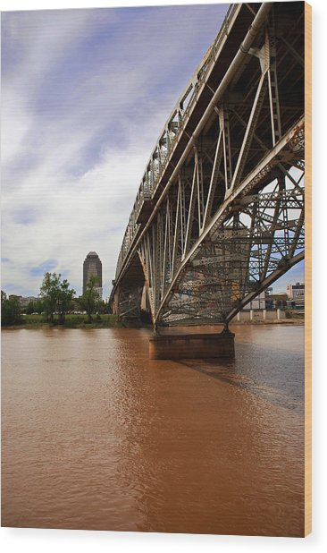 They Don't Call It Red River For Nothing Wood Print